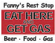 Fanny's Rest Stop Eat Here And Get Gas steel sign (st)